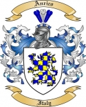 Anrico Family Coat of Arms from Italy2
