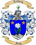 Anthony Family Crest from Italy