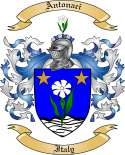 Antonaci Family Coat of Arms from Italy