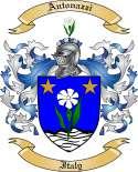Antonazzi Family Coat of Arms from Italy
