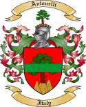 Antonelli Family Coat of Arms from Italy