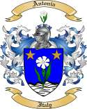 Antonia Family Crest from Italy2