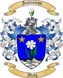 Antonietti Family Coat of Arms from Italy