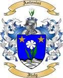 Antonini Family Coat of Arms from Italy