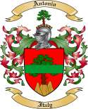 Antonio Family Crest from Italy