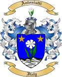 Antoniutti Family Crest from Italy