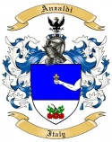 Anzaldi Family Crest from Italy