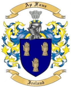 Ap Fane Family Crest from Ireland