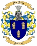 Ap Fane Family Coat of Arms from Ireland