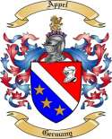 Appel Family Crest from Germany