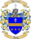 Apricena Family Coat of Arms from Italy