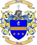 Aprile Family Coat of Arms from Italy