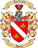 Aquiriain Family Crest from Spain