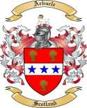 Arbucle Family Coat of Arms from Scotland