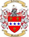 Arbucles Family Coat of Arms from Scotland