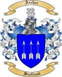 Archer Family Coat of Arms from Scotland