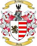 Ardwin Family Crest from Italy