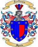 Arellanes Family Crest from Spain