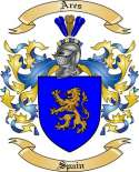 Ares Family Crest from Spain