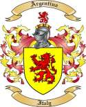 Argentina Family Coat of Arms from Italy2