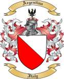Argentina Family Coat of Arms from Italy