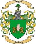 Argue Family Coat of Arms from Ireland