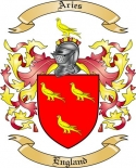 Aries Family Crest from England