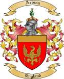 Arison Family Crest from England
