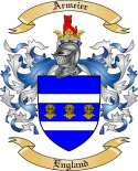 Armeier Family Crest from England