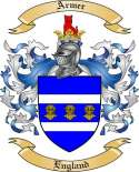 Armer Family Coat of Arms from England