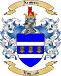 Armerer Family Coat of Arms from England