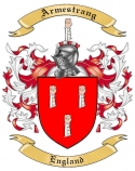 Armestrang Family Crest from England