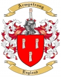 Armystrang Family Crest from England