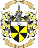 Arnette Family Crest from England