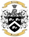 Arnold Family Coat of Arms from Scotland