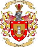 Arredondo Family Coat of Arms from Spain2