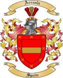 Arreola Family Crest from Spain