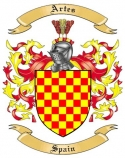 Artes Family Coat of Arms from Spain