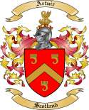 Artuir Family Crest from Scotland