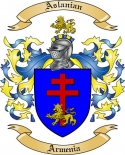 Aslanian Family Coat of Arms from Armenia