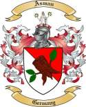 Asman Family Crest from Germany