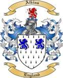 Atkins Family Crest from England
