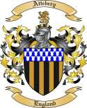 Attebery Family Crest from England
