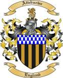 Atteburwe Family Crest from England