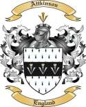 Attkinson Family Crest from England