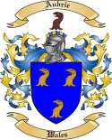 Aubrie Family Crest from Wales