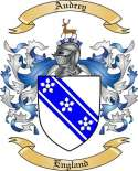 Audrey Family Crest from England