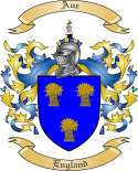 Aue Family Crest from England