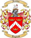 Austen Family Crest from England