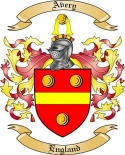 Avery Family Crest from England